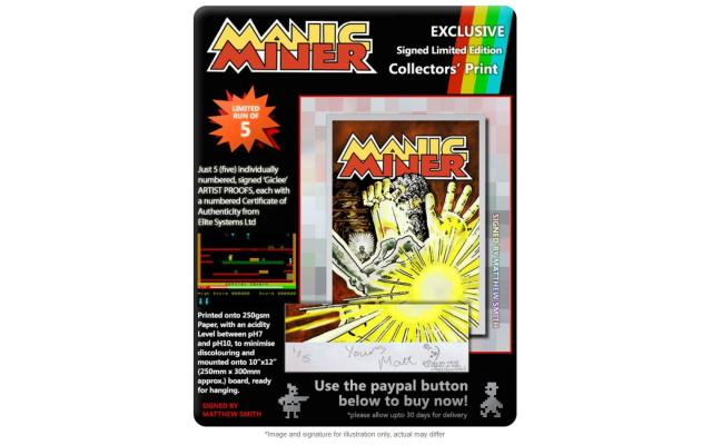 Manic Miner (Bug-Byte) - Signed Artists' Proof #2, #3 or #4 of 5