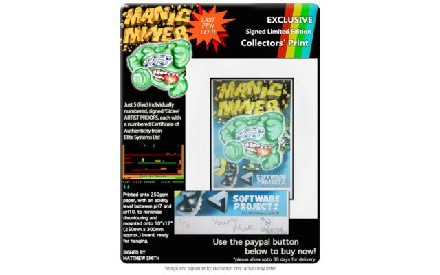 Manic Miner - Signed Artists' Proof #2, #3 or #4 of 5