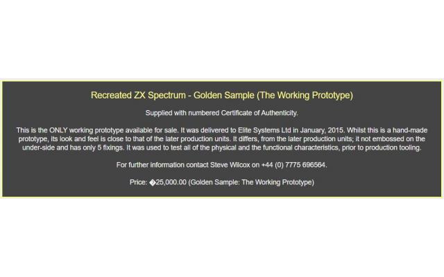 Recreated ZX Spectrum - Golden Sample (The Working Prototype)