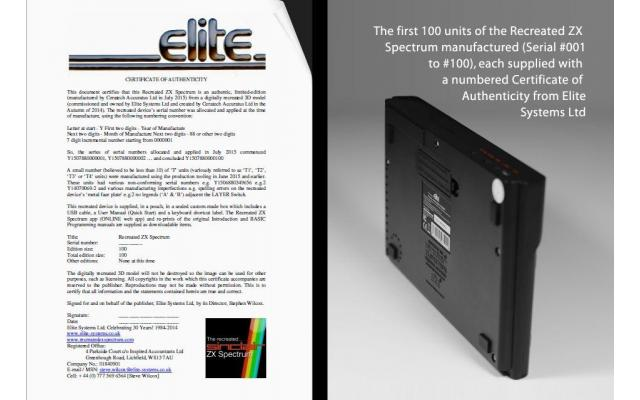 Recreated ZX Spectrum - Founders' Edition #2, #3, #4 or #5 of 100